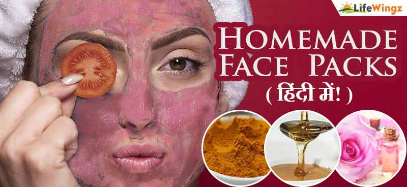 face pack in home