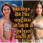 hot actress in saree