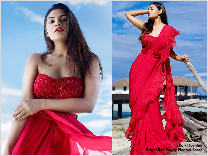 strapless blouse saree online